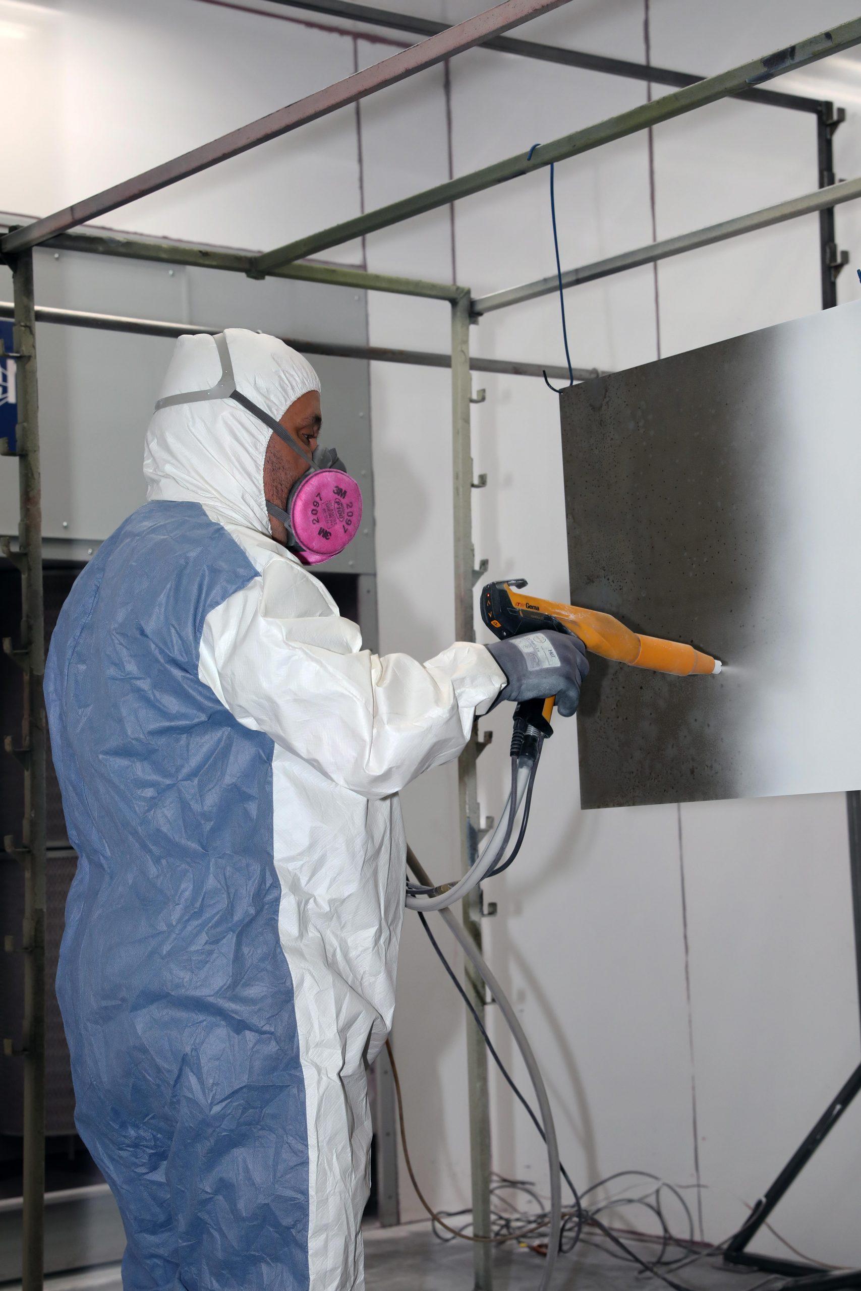 Axis Powder Coating Process